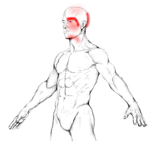 Das Ziehen in der Brust und dem Rücken